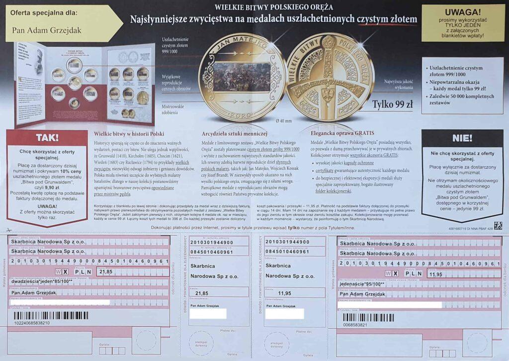 darmowa moneta na 100 lecie niepodleglosci