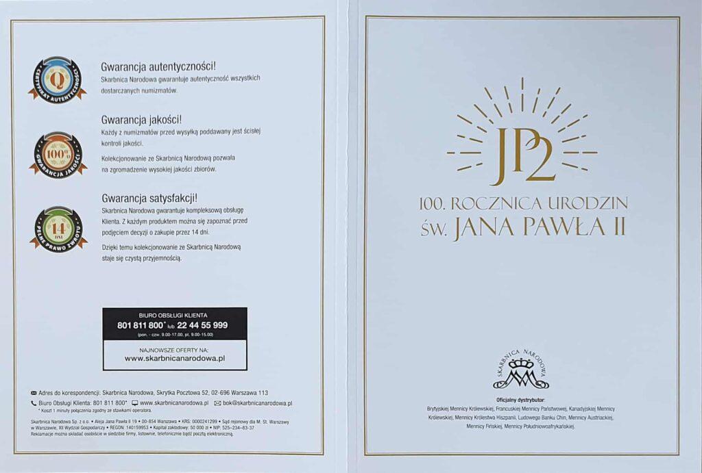 skarbnica narodowa kolekcja jan pawel II