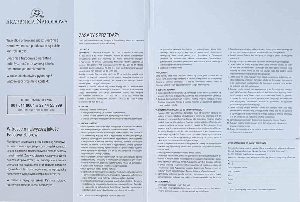 skarbnica narodowa kolekcja jan pawel II 2020