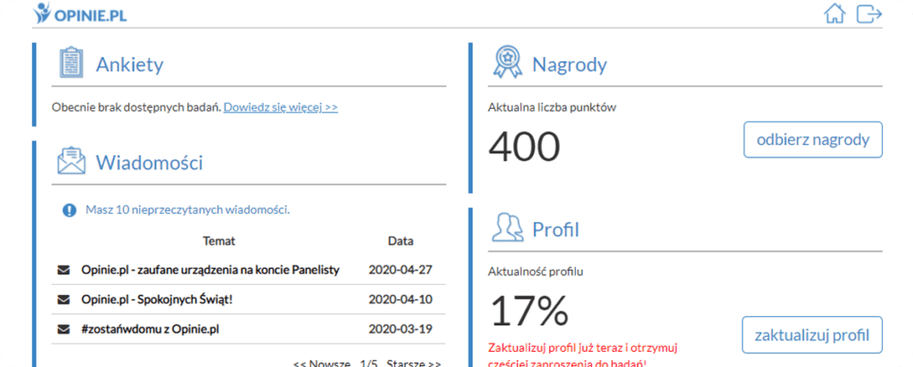 Opinie.pl płatne ankiety